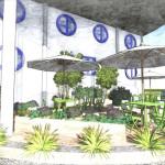 Terraza ajardinada hotel