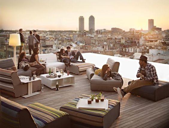 Terraza Gran Hotel Central Barcelona
