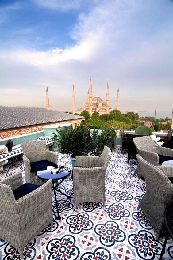 Terraza Hotel Ibrahim Estambul