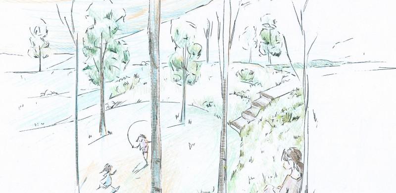Boceto Un Cuarto Propio - Zona infantil